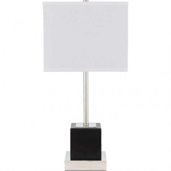Elegant Decor Lana 1 Light Polished Nickel Table Lamp