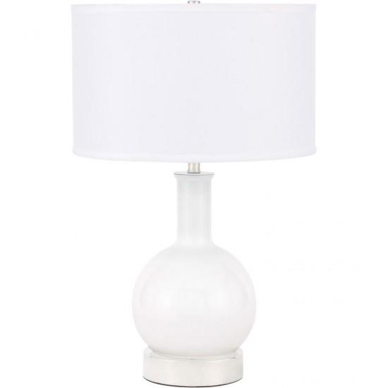 Elegant Decor Cory 1 Light Polished Nickel Table Lamp