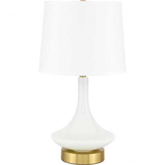 Elegant Decor Alina 1 Light Brass Table Lamp