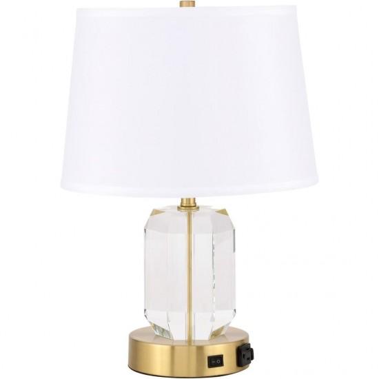 Elegant Decor Wendolyn 1 Light Brass Table Lamp