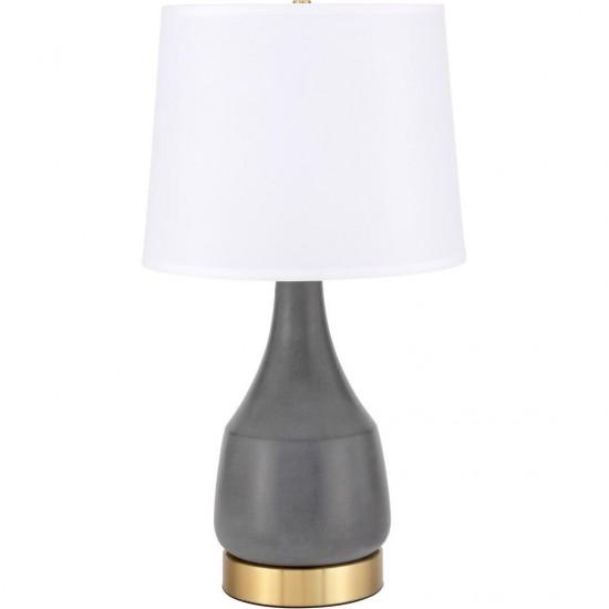 Elegant Decor Reverie 1 Light Gray Table Lamp