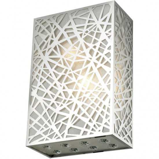 Elegant Lighting Prism 2 Light Chrome Wall Sconce Clear Royal Cut Crystal