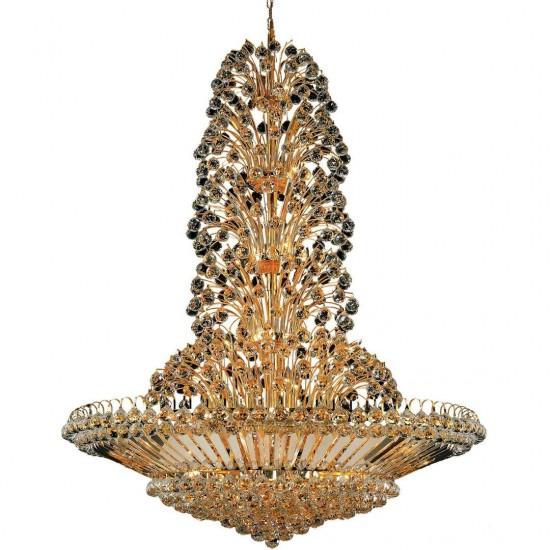 Elegant Lighting Sirius 43 Light Gold Chandelier Clear Royal Cut Crystal