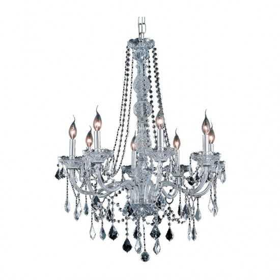 Elegant Lighting Verona 8 Light Chrome Chandelier Clear Spectra Swarovski Crystal