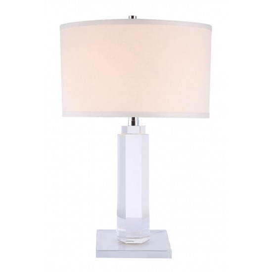 Elegant Lighting Regina Collection Table Lamp D: 14in H: 36in Lt: 1 Chrome Finish