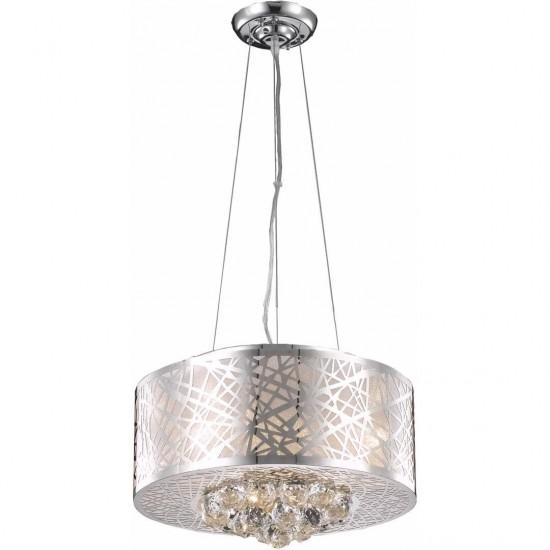 Elegant Lighting Prism 4 Light Chrome Pendant Clear Royal Cut Crystal