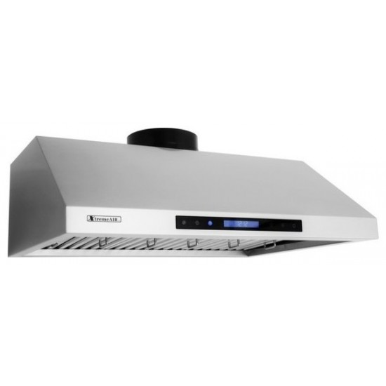 """36"""", LED Lights, Baffle Filter W/ Grease Drain Tunnel, 1.0mm Non-Magnetic Stainless Steel,  Under Cabinet Mount Range Hood"""
