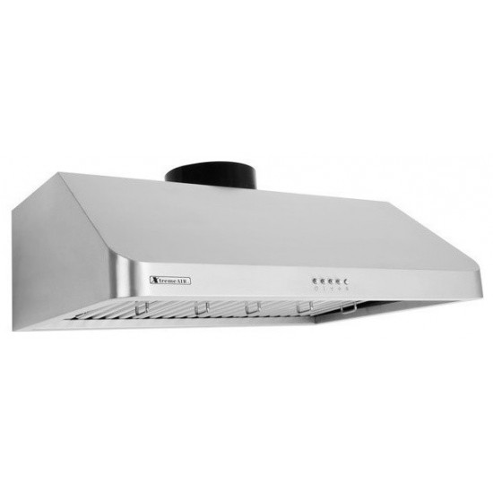 """30"""" width, 900 CFM, Baffle filters, 3-Speed Mechanical Buttons, Full Seamless, 1.0 mm Non-magnetic S.S, Under cabinet hood"""
