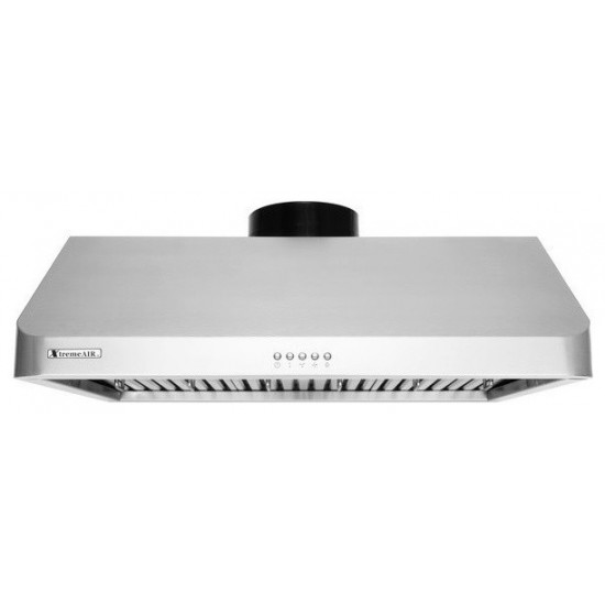 """36"""" width, 900 CFM, Baffle filters, 3-Speed Mechanical Buttons, Full Seamless, 1.0 mm Non-magnetic S.S, Under cabinet hood"""