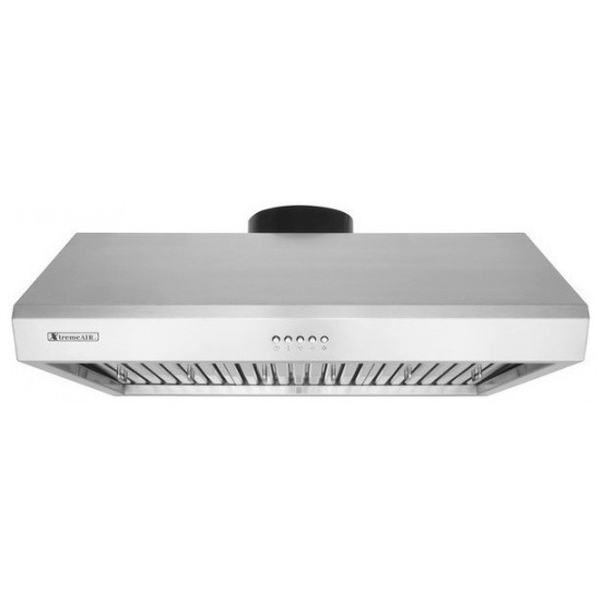 """UL13-U36, 36"""" width, Baffle filters, 3-Speed Mechanical Buttons, Full Seamless, 1.0 mm Non-magnetic S.S, Under cabinet hood"""