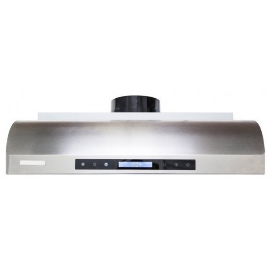 """30"""", LED Lights, Baffle Filters, 1.0mm Non-Magnetic Stainless Steel,  Low Profile Under Cabinet Mount Range Hood"""