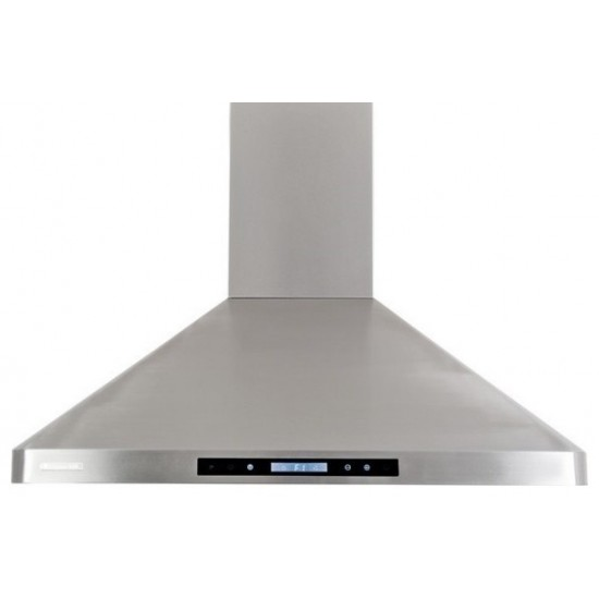 """36"""", LED lights, Baffle Filters W/ Grease Drain Tunnel, 1.0mm Non-Magnetic Stainless Steel Seamless Body, Wall Mount Range Ho"""
