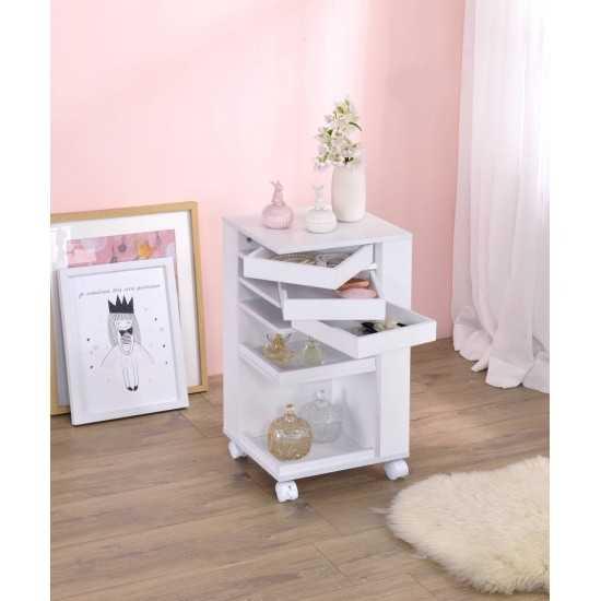 ACME Nariah Storage Cart, White