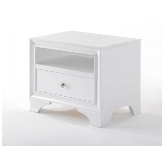 ACME Blaise Night Table, White