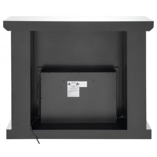 ACME Dominic Fireplace, Mirrored