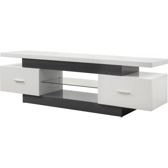 ACME Vicente TV Stand, White & Gray