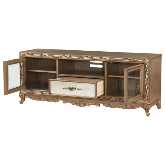 ACME Orianne TV Stand, Antique Gold