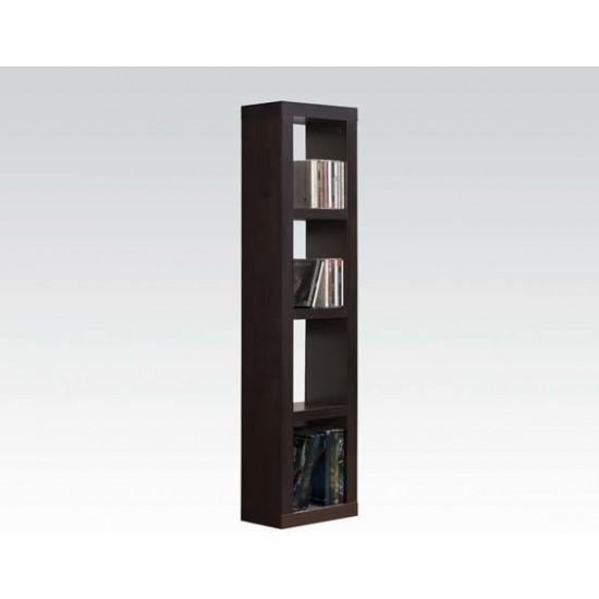 ACME Carmeno Bookcase - CD/DVD Unit, Espresso