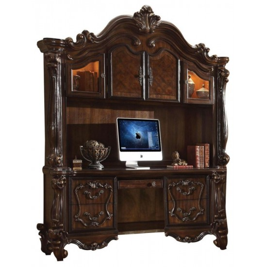 ACME Versailles Computer Desk & Hutch, Cherry Oak