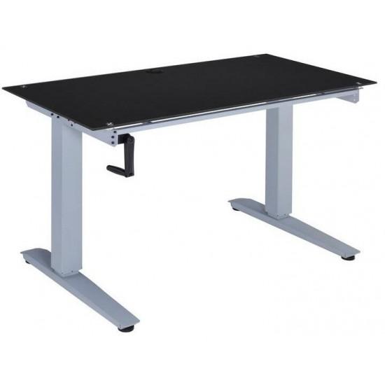 ACME Bliss Desk w/Lift, Black Glass