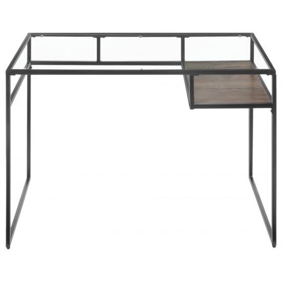 ACME Yasin Desk, Gray & Glass