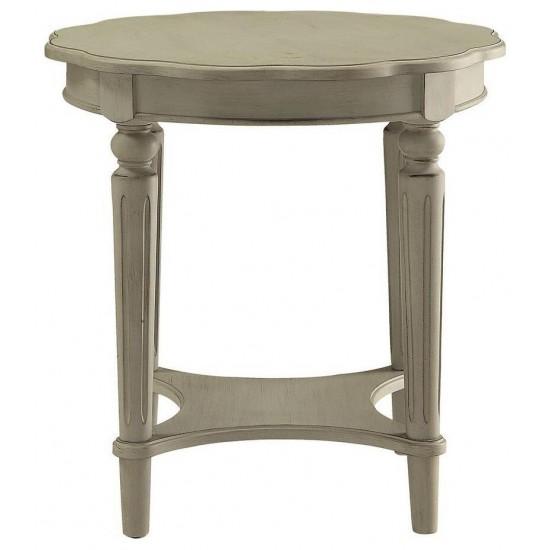 ACME Fordon End Table, Antique White