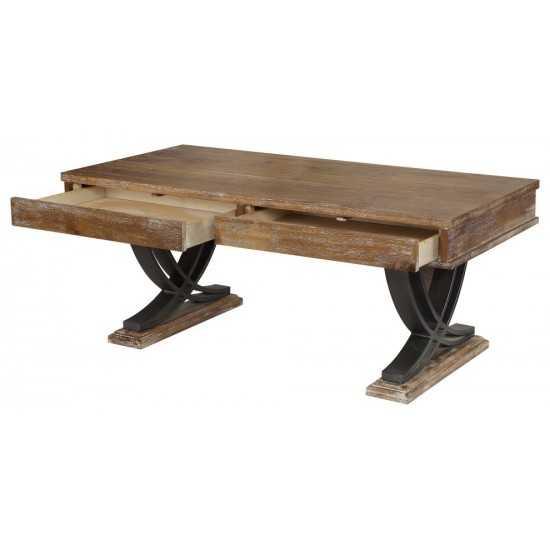 ACME Pellio Coffee Table, Antique Oak & Black