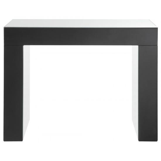 ACME Nysa Vanity Desk, Mirrored & Faux Crystals