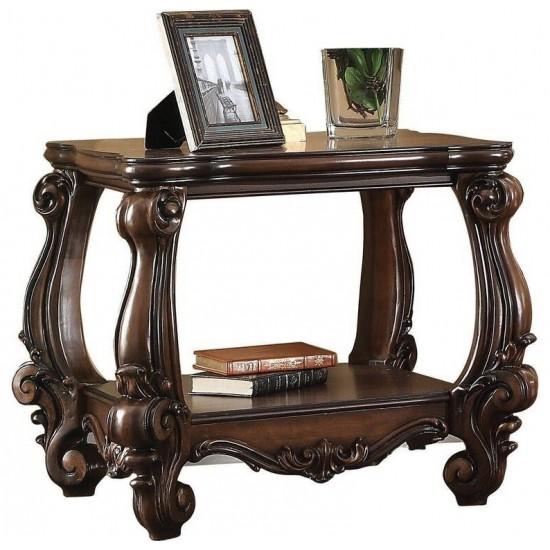 ACME Versailles End Table, Cherry Oak