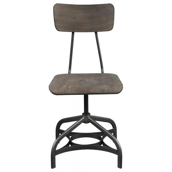 ACME Jonquil Side Chair w/Swivel (Set-2), Gray Oak & Sandy Gray