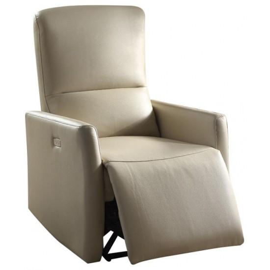 ACME Raff Recliner (Power Motion), Beige Leather-Aire