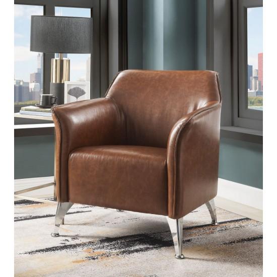 ACME Teague Accent Chair, Brown PU
