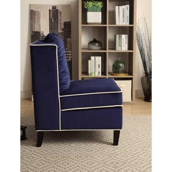 ACME Ozella Accent Chair, Dark Blue Velvet