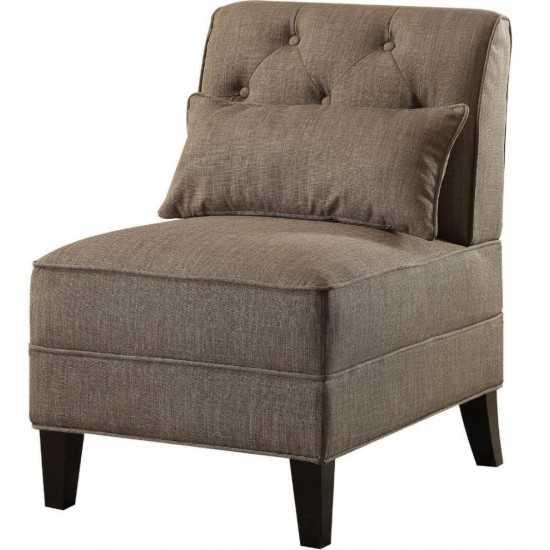 ACME Susanna Accent Chair & Pillow, Charcoal Linen