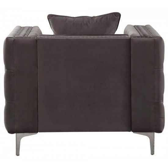 ACME Gillian II Chair w/1 Pillow, Dark Gray Velvet