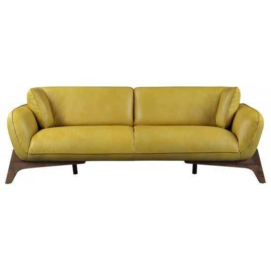 ACME Pesach Sofa, Mustard Leather