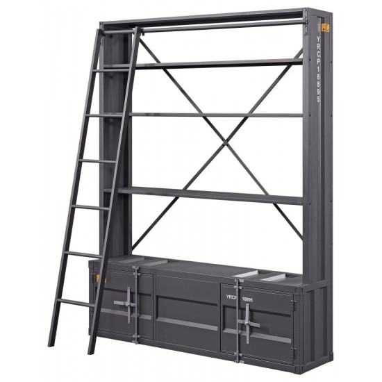 ACME Cargo Bookshelf & Ladder, Gunmetal