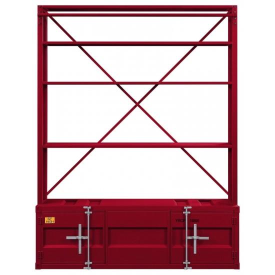 ACME Cargo Bookshelf & Ladder, Red