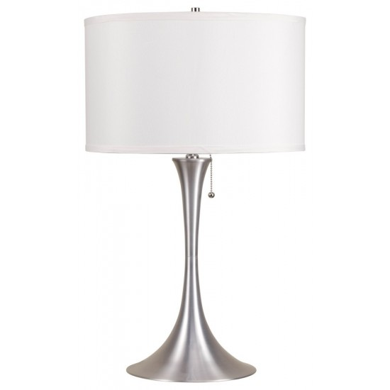 ACME Cody Table Lamp, Brushed Silver