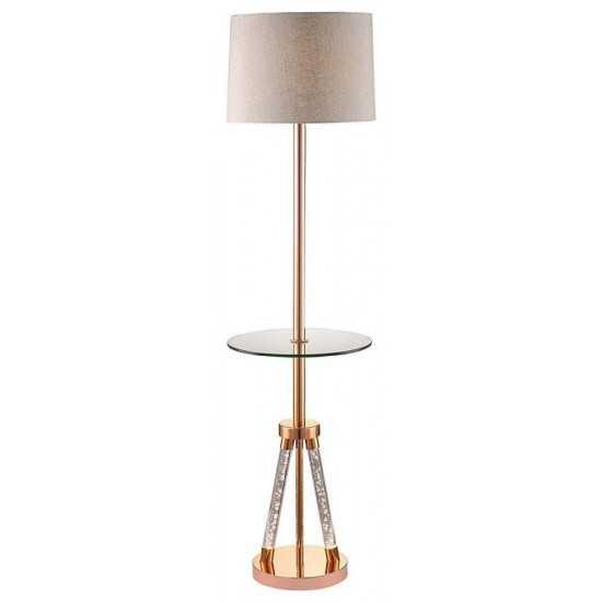ACME Cici Floor Lamp, Rose Gold