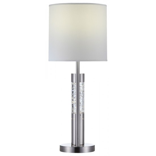 ACME Claus Table Lamp, Brushed Nickel