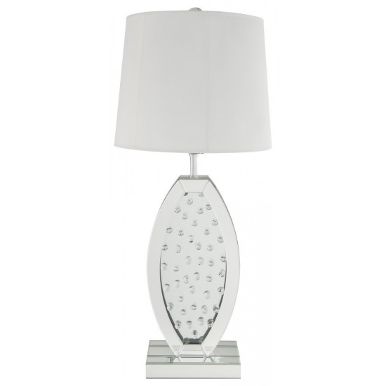 ACME Nysa Table Lamp, Mirrored & Faux Crystals