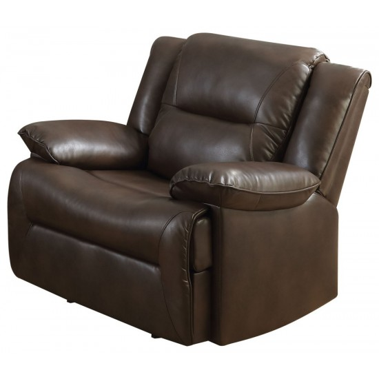 ACME Romulus Glider Recliner, Espresso Leather-Aire Match