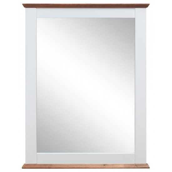 ACME Farah Mirror, White & Oak