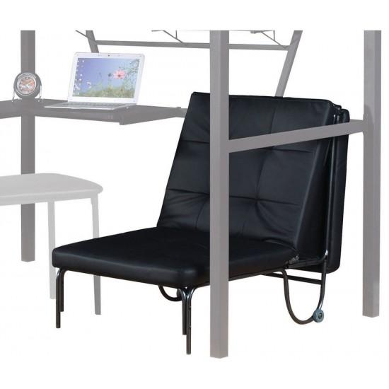 ACME Senon Adjustable Chair (Futon), Silver & Black
