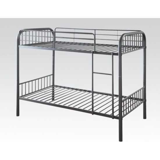 ACME Bristol Twin/Twin Bunk Bed, Gunmetal
