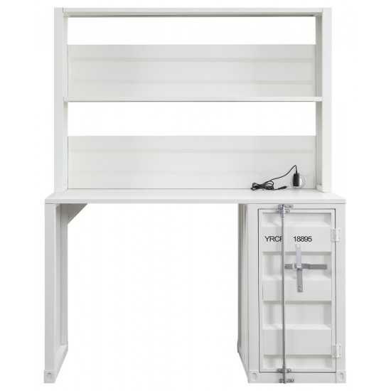 ACME Cargo Desk & Hutch, White