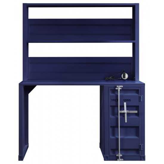 ACME Cargo Desk & Hutch, Blue