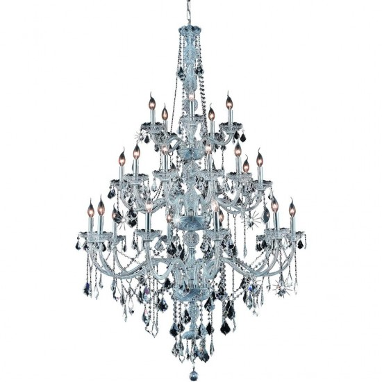 Elegant Lighting Verona 25 Light Chrome Chandelier Clear Royal Cut Crystal
