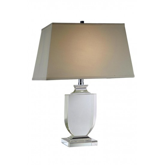 Elegant Lighting Regina Collection Table Lamp L: 18 W: 11 H: 24.5 Lt: 1 Chrome Finish
